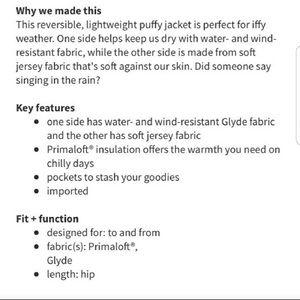 lululemon athletica Jackets & Coats - Lululemon Reversible Puffer